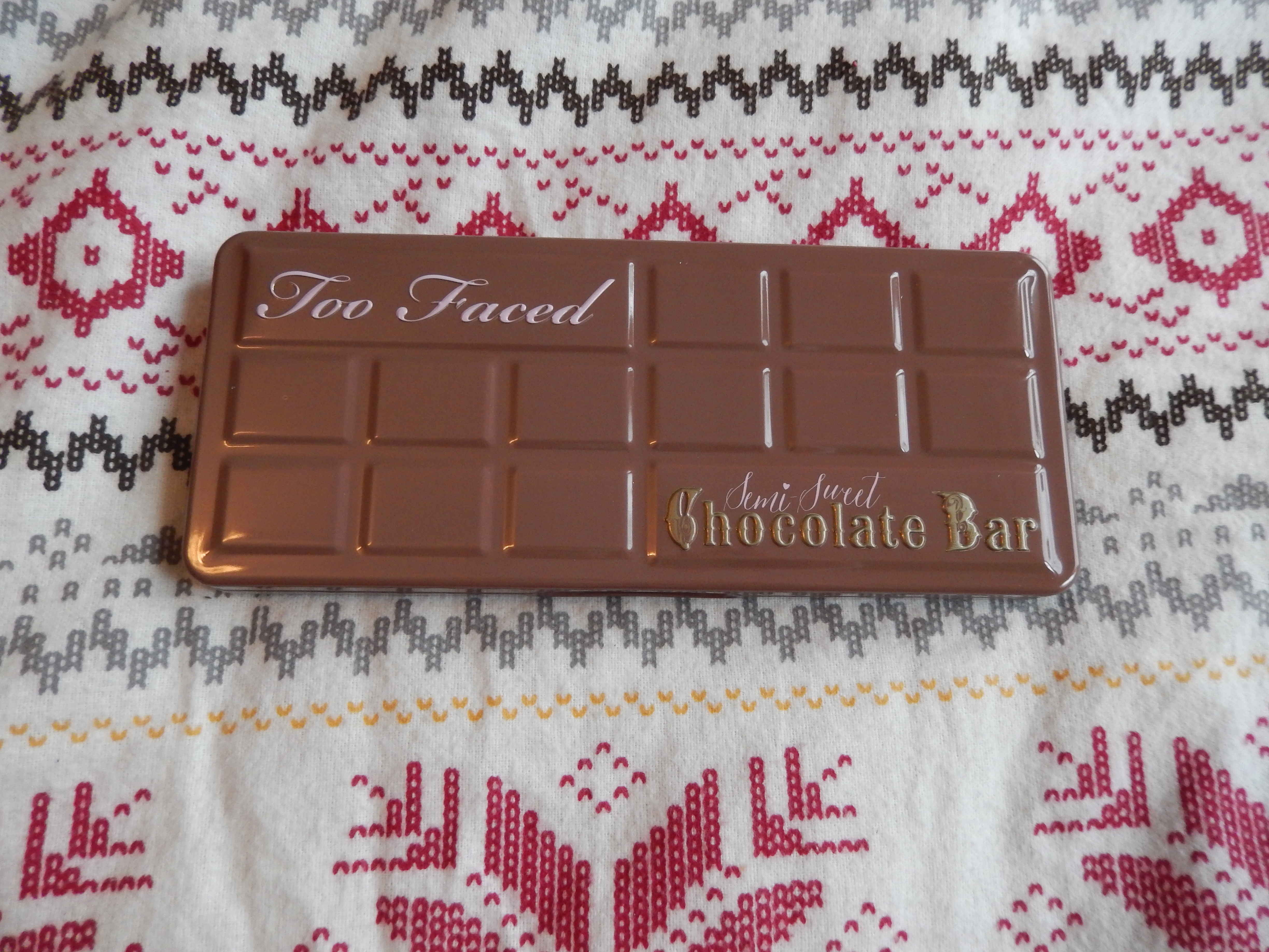 Blogmas Day 15 Too Faced Semi Sweet Chocolate Bar Palette